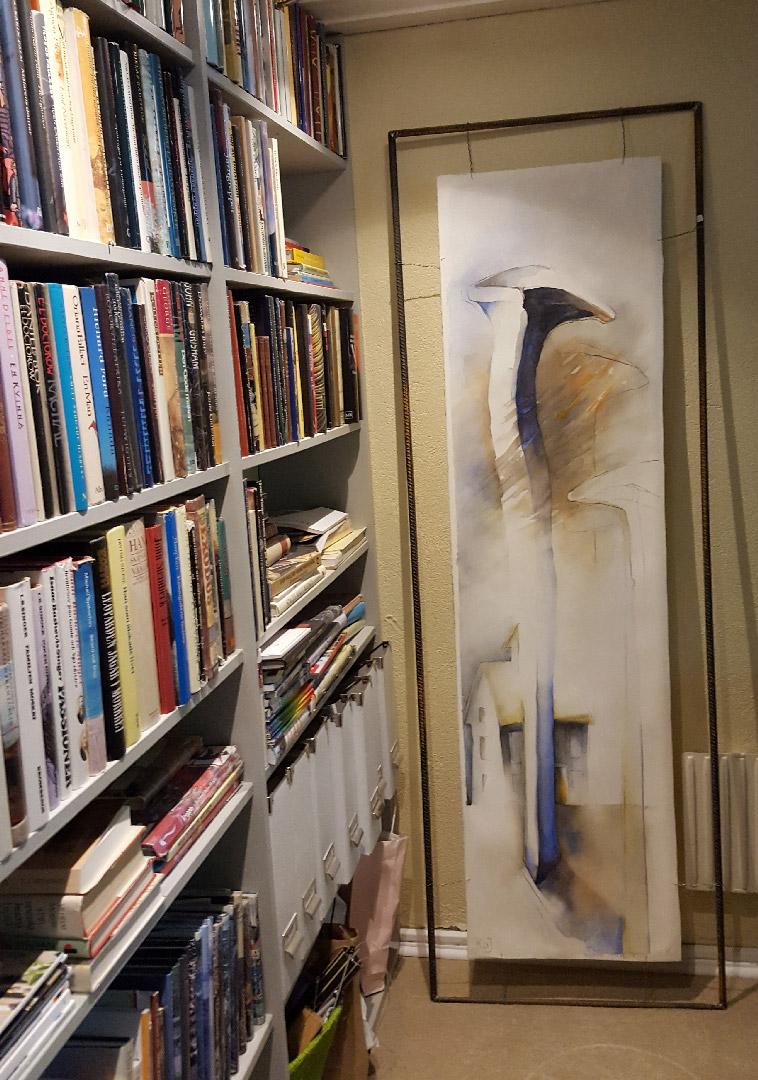 Böcker och konstverk